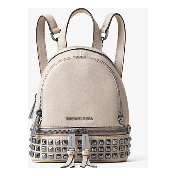 MICHAEL KORS Rhea extra-small studded leather backpack - Talk about having an edge. Rows of high-shine studs give...