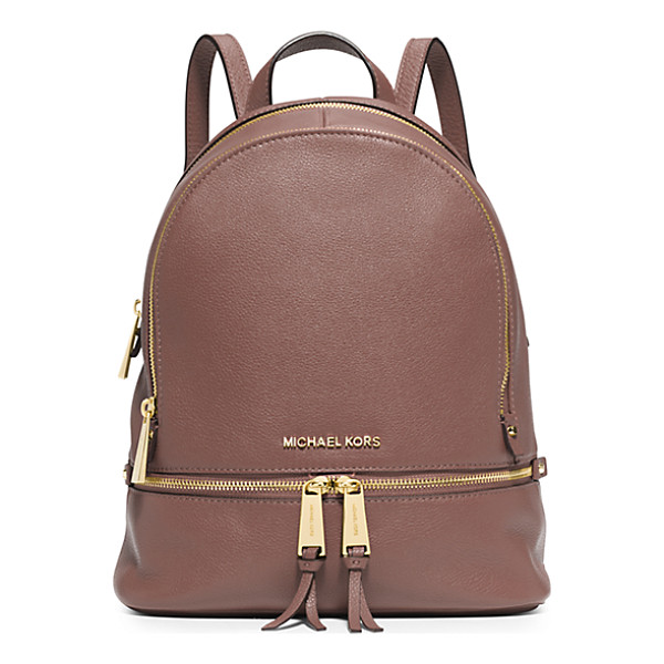 MICHAEL KORS Rhea Small Leather Backpack - Laid-Back Yet Luxe Our Rhea Backpack Redefines Big-City...