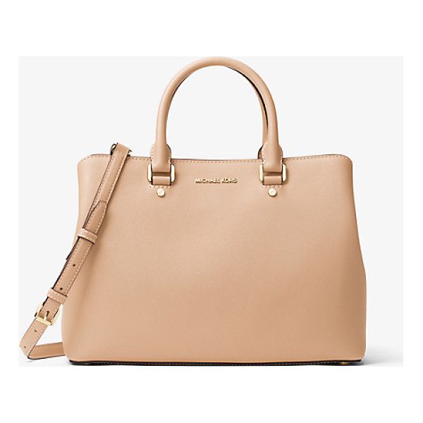 MICHAEL KORS Grand sac a main savannah en cuir saffiano - Combining expert craftsmanship with sleek functionality our...