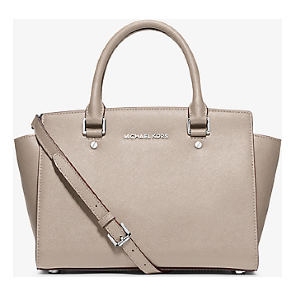 MICHAEL KORS Selma medium saffiano leather satchel - Get a handle on timeless style with our Selma satchel....