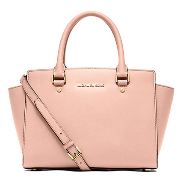 MICHAEL KORS Selma Saffiano Leather Medium Satchel - Get A Handle On Timeless Style With Our Treasured Selma...