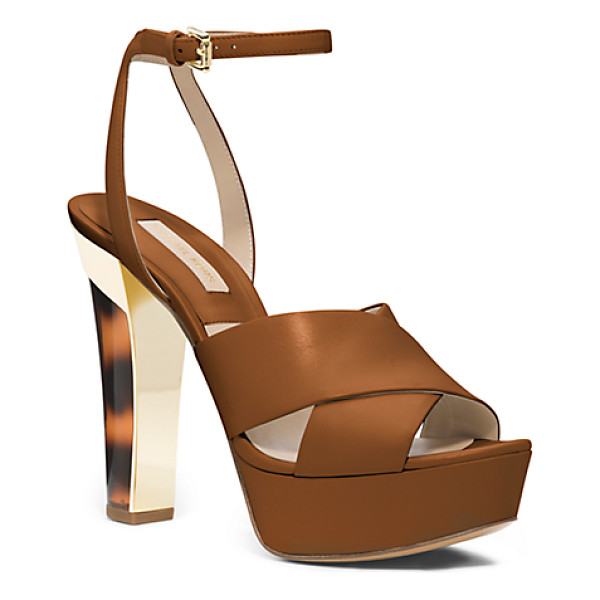 MICHAEL KORS Shayden Tortoise Ankle-Strap Platform Sandal - Spring's Sensibility Is An Ode To Romantic Ease Leaving...