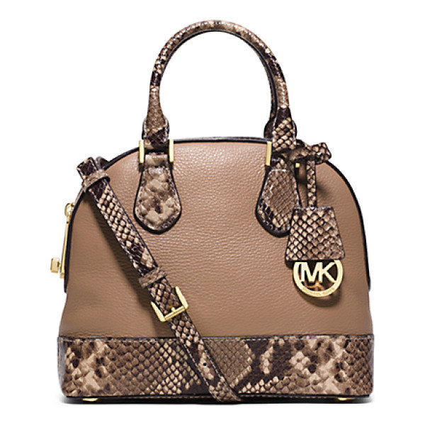MICHAEL KORS Smythe Small Embossed-Leather Satchel - The Ultimate Showstopper: Our New Smythe Satchel. Riffing...
