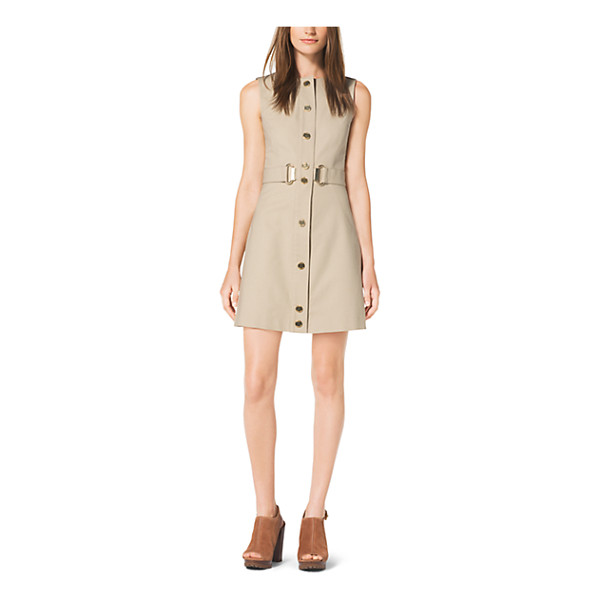 MICHAEL KORS Snap-Front Stretch-Cotton Dress - Our Signature High-Shine Hardware Instills This Dress With...