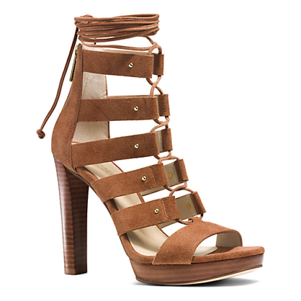 MICHAEL KORS Sofia Suede Platform Sandal - With Their Velvety Suede Workmanship And Stacked Platform...