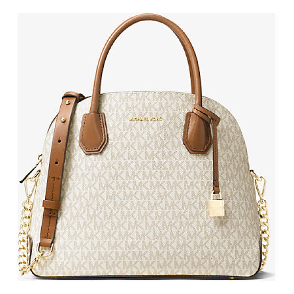 MICHAEL KORS STUDIO Mercer Large Logo Dome Satchel - Reimagined In A Dome-Structured Satchel The Mercer Is A...