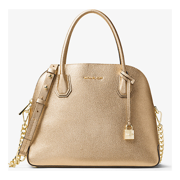 MICHAEL KORS STUDIO Mercer Large Metallic Leather Dome Satchel - Reimagined In A Dome-Structured Satchel The Mercer Is A...