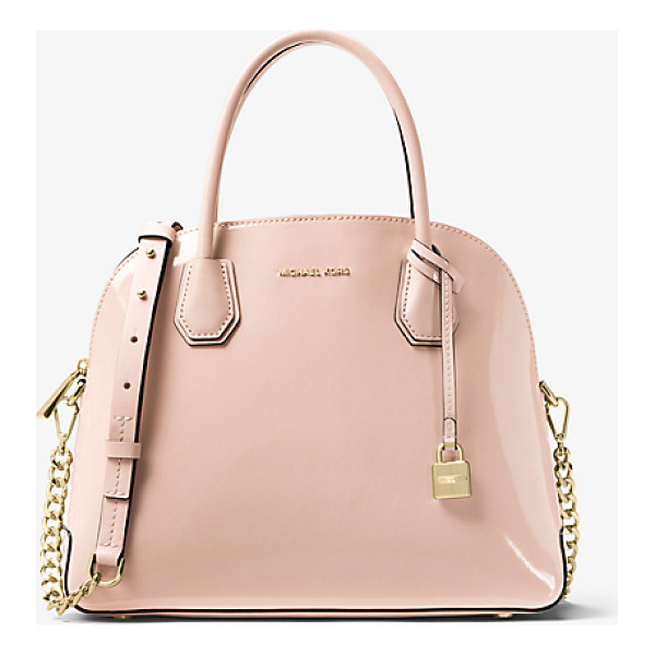 MICHAEL KORS STUDIO Mercer Large Patent Leather Dome Satchel - Reimagined In A Dome-Structured Satchel The Mercer Is A...