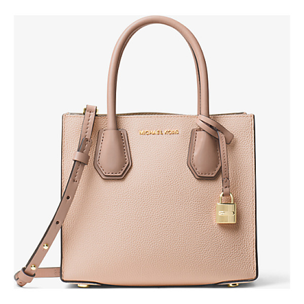 MICHAEL KORS STUDIO Mercer Color-Block Leather Crossbody - Crafted From Pebbled Leather Our Color-Blocked Mercer...