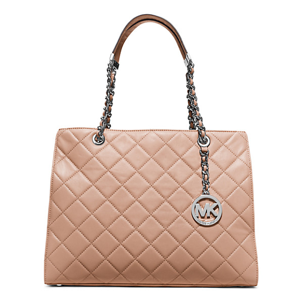 MICHAEL KORS Susannah Large Quilted-Leather Tote - Unapologetically Ladylike Our Quilted Susannah Tote Extends...