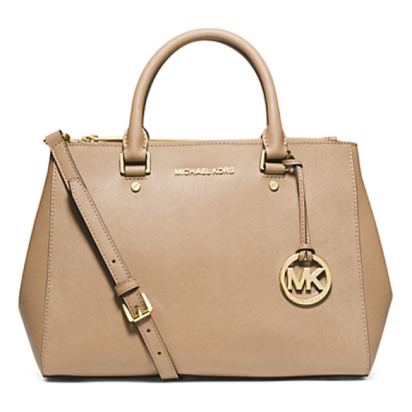 MICHAEL KORS Sutton Medium Saffiano Leather Satchel - The Shape Of Things To Come: Our Newest Tote The Sutton—a...