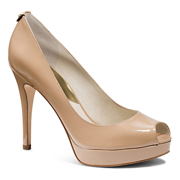 MICHAEL KORS York Patent-Leather Peep-Toe Pump - With A Glossy Patent-Leather Construction Chic Peep-Toe And...
