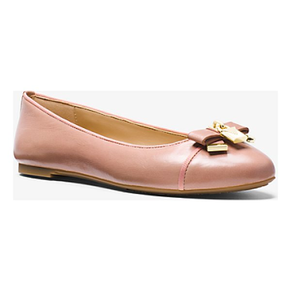 MICHAEL MICHAEL KORS Alice Leather Ballet Flat - A Touch Of Shine And Luxe Leather Elevate Our Alice Ballet...