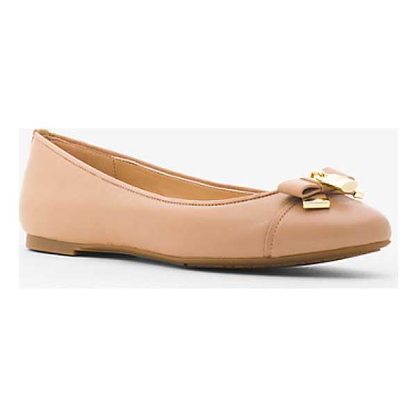 MICHAEL MICHAEL KORS Alice Leather Ballet Flat - A Touch Of Shine And Luxe  Leather Elevate