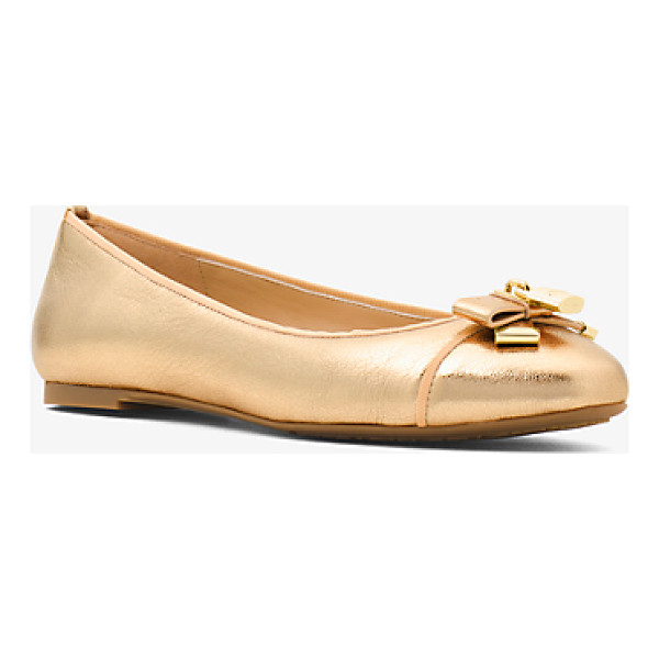 MICHAEL MICHAEL KORS Alice Metallic Leather Ballet Flat - Metallic Leather Highlights Our Alice Ballet Flats With...