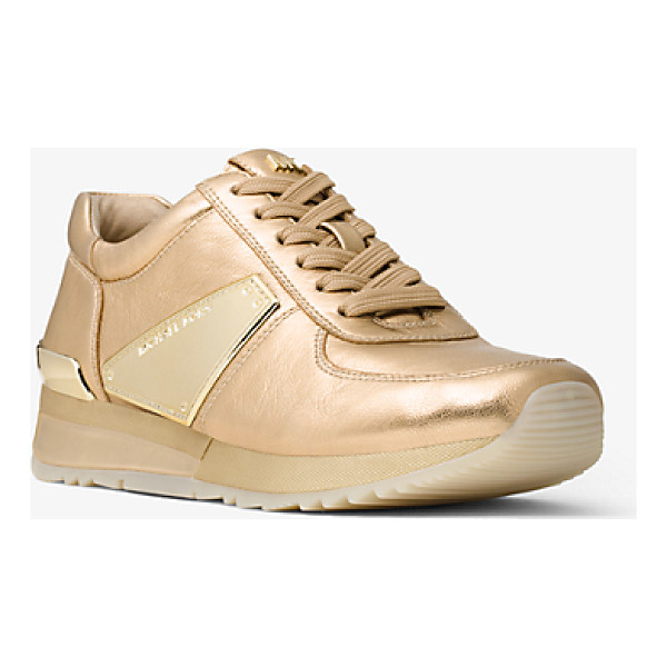 MICHAEL MICHAEL KORS Allie Metallic Leather Sneaker - A Glamorous Metallic Finish And Smooth Nappa Leather...
