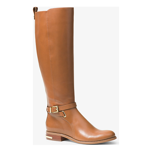 MICHAEL MICHAEL KORS Arley Leather Boot - Glossy Leather And A Heritage Riding Boot Silhouette Fuse...