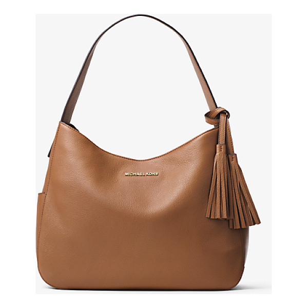 MICHAEL MICHAEL KORS Ashbury Large Leather Shoulder Bag - A Study In Quiet Glamour The Ashbury Shoulder Bag Is...