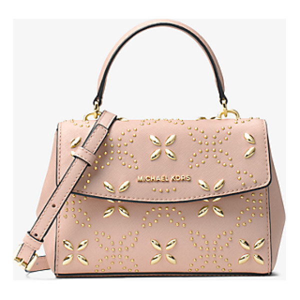 MICHAEL MICHAEL KORS Ava Extra-Small Floral Studded Crossbody - This Decidedly Ladylike Crossbody Showcases A Studded