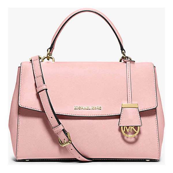 MICHAEL MICHAEL KORS Ava Medium Saffiano Leather Satchel - This Decidedly Ladylike Take On The Top-Handle Bag...