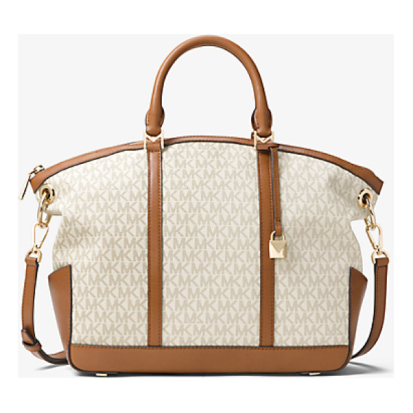 MICHAEL MICHAEL KORS Beckett Large Logo Satchel - A True Handbag Hero Is Deceptively Spacious Organized For...