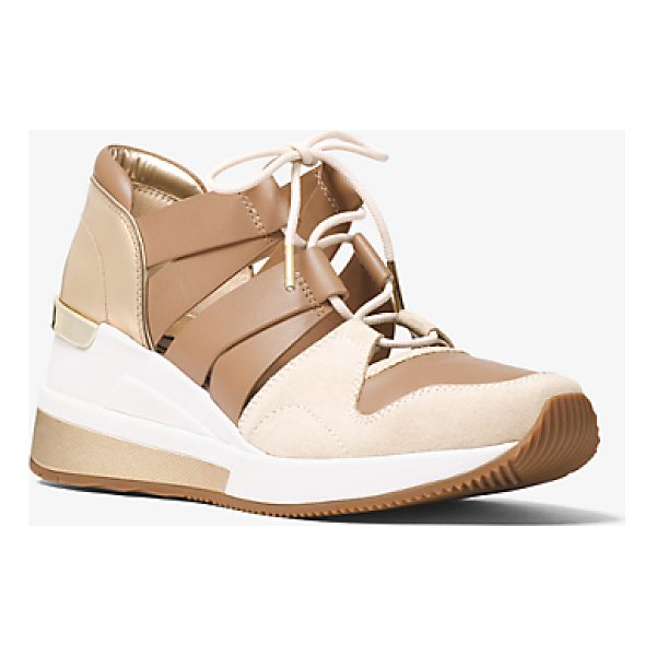 MICHAEL MICHAEL KORS Beckett Suede And Leather Sneaker - Designed In A Mix Of Suede And Smooth Leather With A...