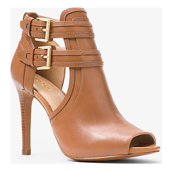 MICHAEL MICHAEL KORS Blaze Open-Toe Leather Ankle Boot - The Key To Making A Seamless Transition From Day To Night...