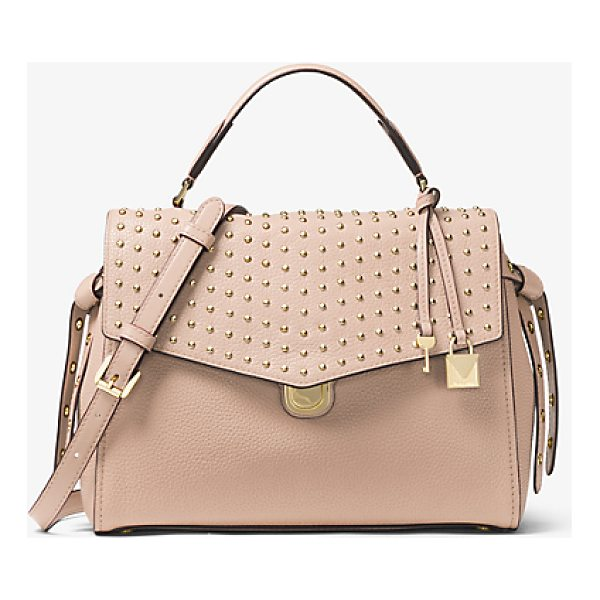 MICHAEL MICHAEL KORS Bristol Studded Leather Satchel - Soft Meets Structured On Our Bristol Satchel Crafted From...