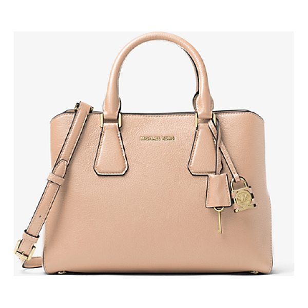 MICHAEL MICHAEL KORS Camille Leather Satchel - Rendered In Pebbled Leather With Touches Of Gold-Tone...