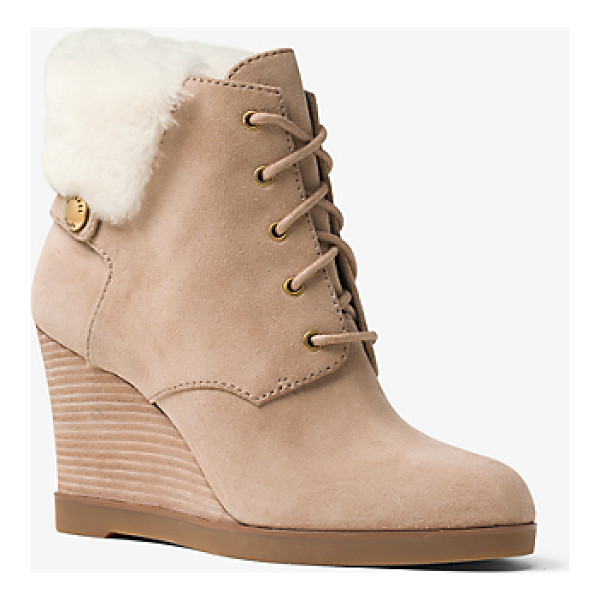 MICHAEL MICHAEL KORS Carrigan Suede And Fur Wedge Boot - Crafted From Sumptuous Suede Our Carrigan Ankle Boots Are...