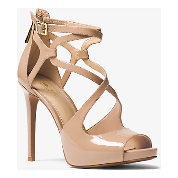 MICHAEL MICHAEL KORS Catia Patent Leather Sandal - Rise To The Occasion With The Catia Sandal. This Open-Toe...
