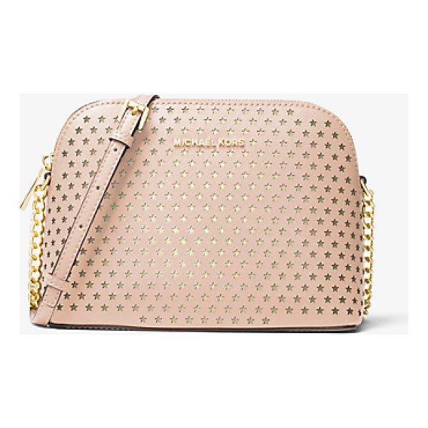 MICHAEL MICHAEL KORS Cindy Perforated Saffiano Leather Crossbody - Our Cindy Crossbody Is A Stylish Way To Keep Essentials...