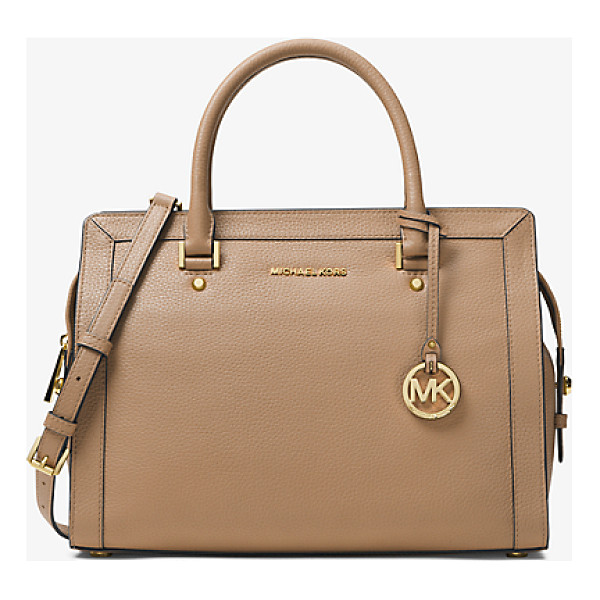 MICHAEL MICHAEL KORS Collins Large Leather Satchel - Strike A Balance Between Simple And Sophisticated With Our...