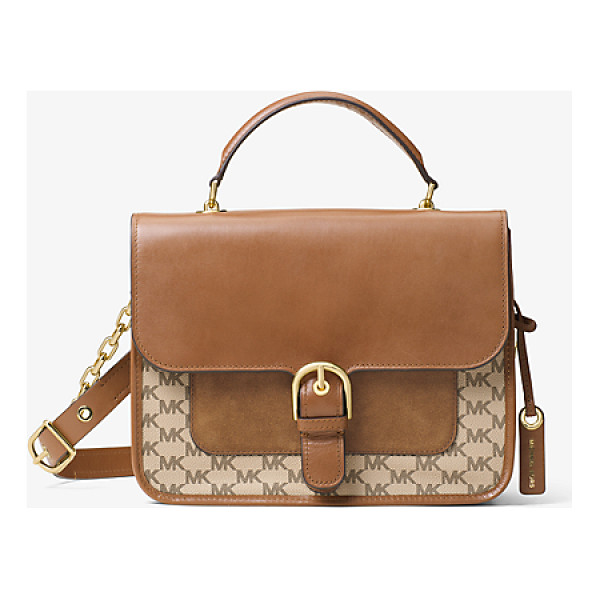 MICHAEL MICHAEL KORS Cooper Large Leather Satchel - Preppy Meets Polished With The Cooper Satchel. The Logo...