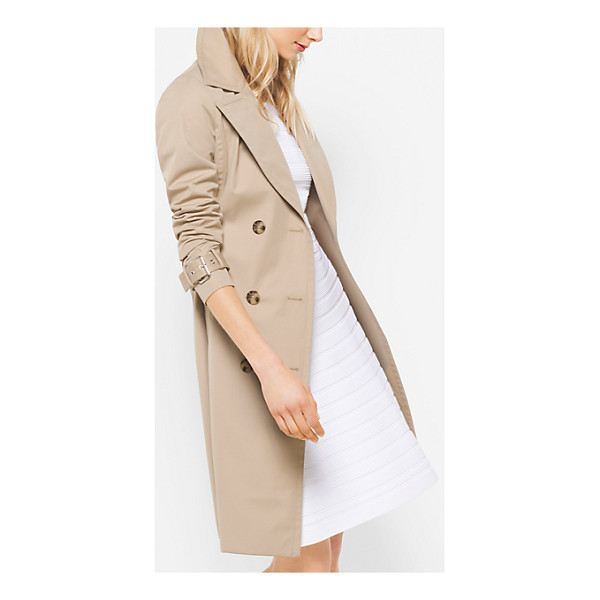 MICHAEL MICHAEL KORS Cotton-Blend Sateen Trench Coat - Tailored To Perfection In Cotton-Blend Sateen Our Trench...