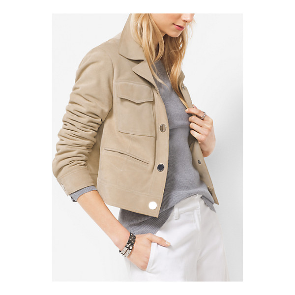 MICHAEL MICHAEL KORS Cropped Suede Jacket - A Cropped Silhouette Combines With Sumptuous Suede...