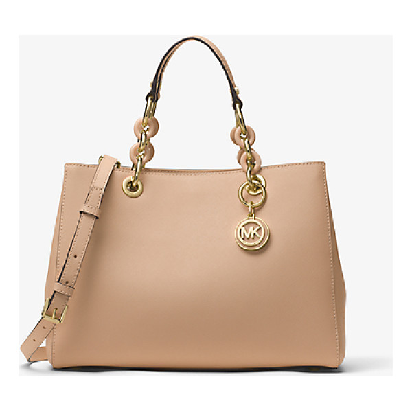 MICHAEL MICHAEL KORS Cynthia Medium Saffiano Leather Satchel - Our Cynthia Satchel Is A Polished Desk-To-Dinner Staple For...