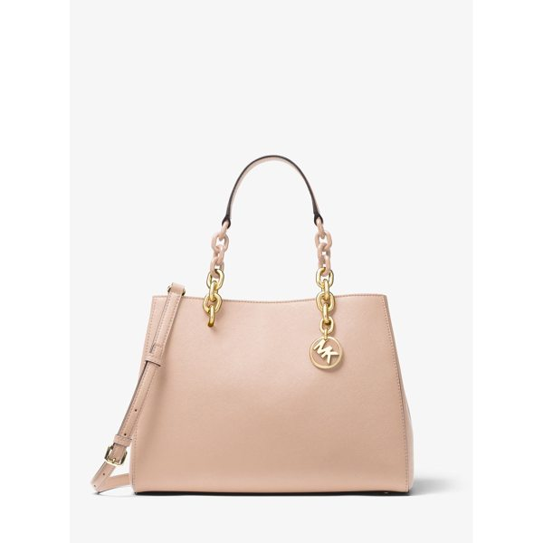 MICHAEL MICHAEL KORS Cynthia Saffiano Leather Satchel - Our Cynthia Satchel Is A Polished Desk-To-Dinner Staple For...