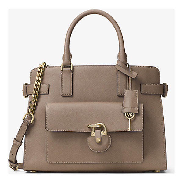 MICHAEL MICHAEL KORS Emma Saffiano Leather Satchel - Secure Your Style Status Under Lock And Key With Our...