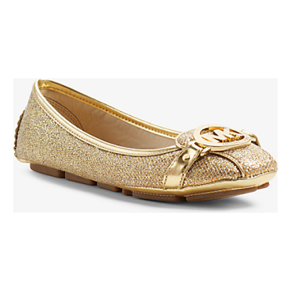 MICHAEL MICHAEL KORS Fulton glitter leather moccasin - Classic contemporary cult-worthy-the Fulton flat is a true...