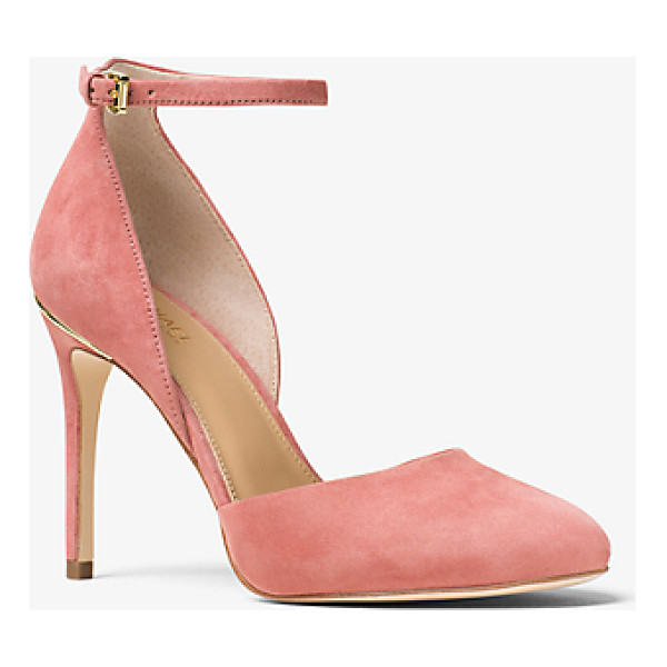 MICHAEL MICHAEL KORS Georgia Suede Ankle-Strap Pump - An Ankle Strap Adds A Flattering Twist Of Feminine Appeal...