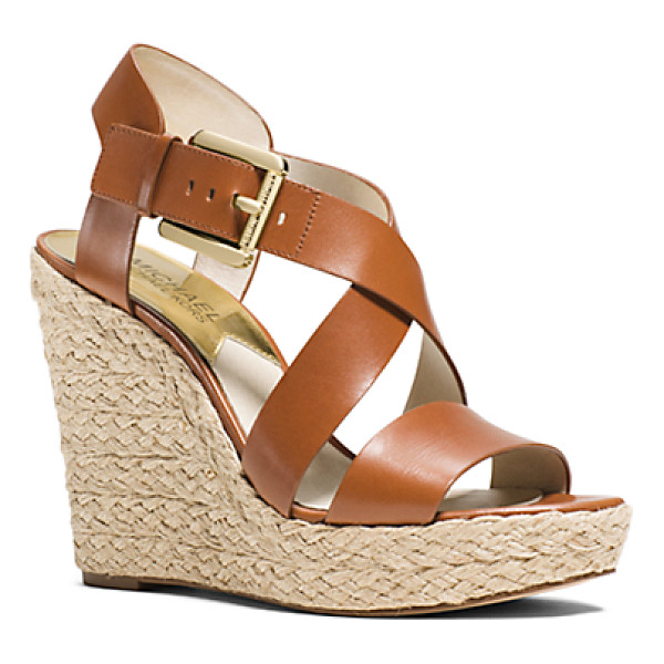 MICHAEL MICHAEL KORS Giovanna Leather Espadrille Wedge Sandal - Build Your Warm-Weather Looks From The Ground Up With The...