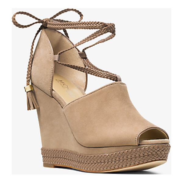 MICHAEL MICHAEL KORS Hastings Lace-Up Suede Wedge - It's A Wrap On Fresh Season-To-Season Style With The...