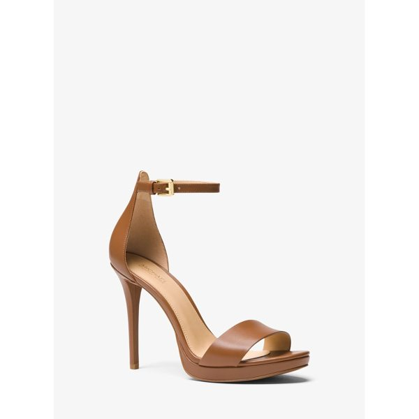MICHAEL MICHAEL KORS Hutton Leather Sandal - Luxe Leather Construction And A Stiletto Heel Combine To...