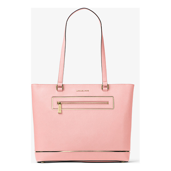 MICHAEL MICHAEL KORS Jet Set Large Leather Tote - Meet Your New Everyday Favorite. This Effortlessly...