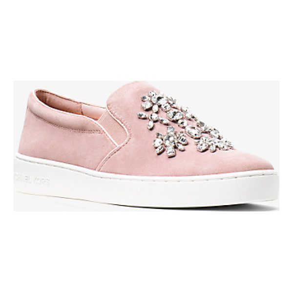 MICHAEL MICHAEL KORS Keaton Embellished Suede Slip-On Sneaker - Crafted From Smooth Suede And Embellished With Sparkling...