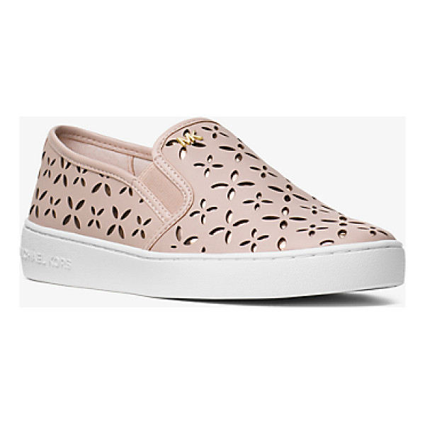 MICHAEL MICHAEL KORS Keaton Perforated Leather Slip-On Sneaker - Crafted From Perforated Leather Our Keaton Slip-On Sneakers...