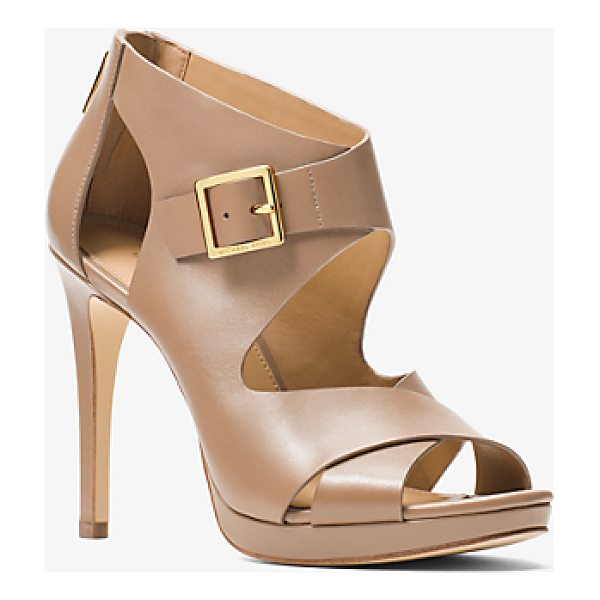 MICHAEL MICHAEL KORS Kimber Leather Platform Sandal - Complement The Season's Romantic Pieces With A Pair Of...