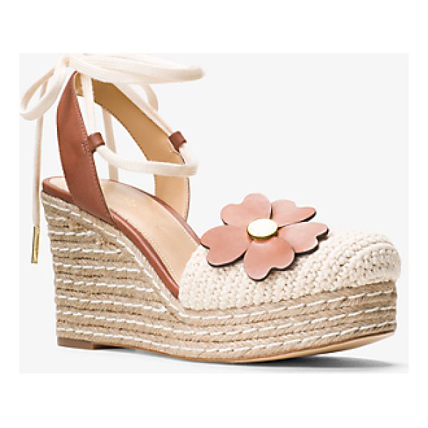 MICHAEL MICHAEL KORS Kit Lace-Up Macrame And Leather Wedge - Updated In A Textural Blend Of Macrame And Nubuck Leather...