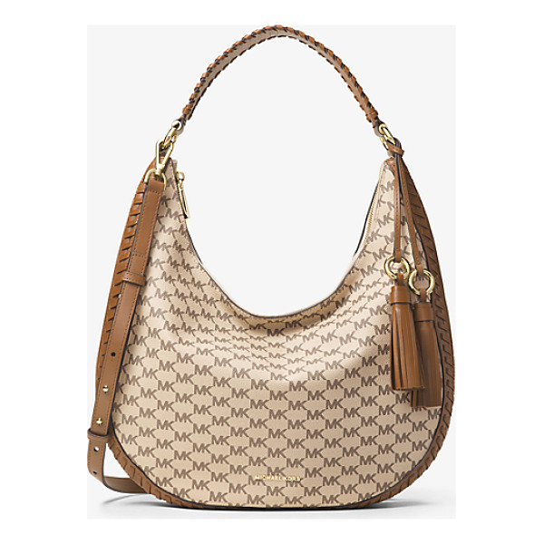 MICHAEL MICHAEL KORS Lauryn Large Logo Shoulder Bag - Whipstitch Leather Trim Lends Artisanal Appeal To The Lydia